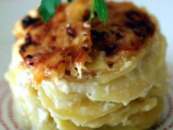 gratin de pommes de terre creme a l ail et gorgonzola