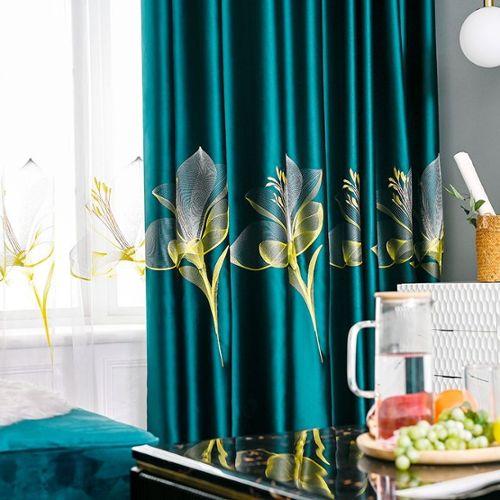 achat rideaux vert fonce pas cher