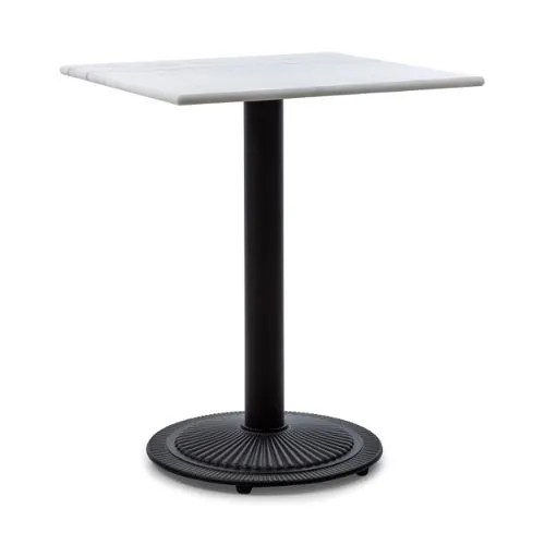 achat table ronde bistrot marbre fonte