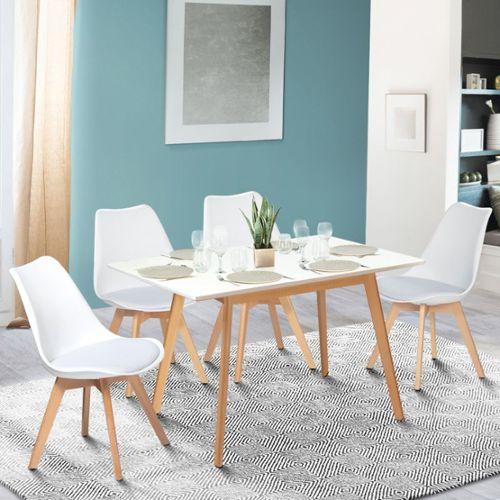 achat table scandinave extensible pas