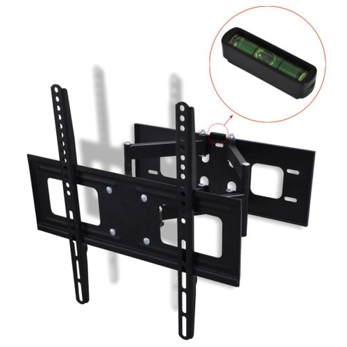 support mural tv double bras orientable et inclinable 400 x 400 mm