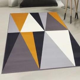 achat grand tapis salon blanc a prix