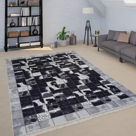 achat tapis salon noir a prix bas