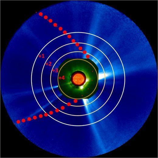 Le survol d'ISON : champs électriques et intensité de la brillance