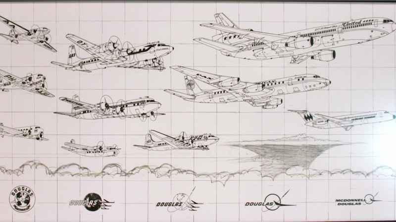 54 Douglas Airplane Drawings