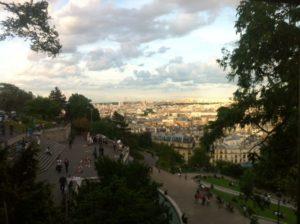Vue de Paris depuis le sacrée coeur à Montmartre