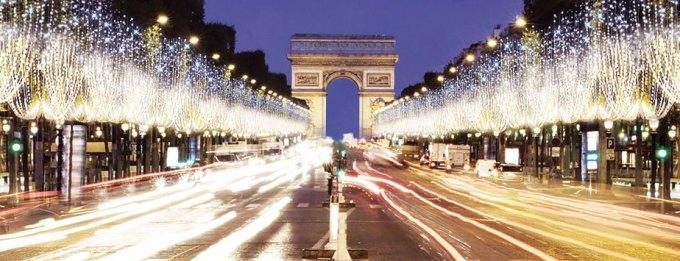 Illumination des champs Elysée 2014-2015