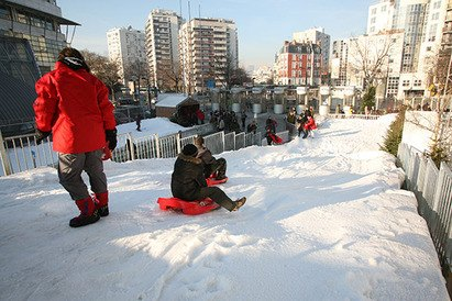 Charlety su neige - Ski à Paris