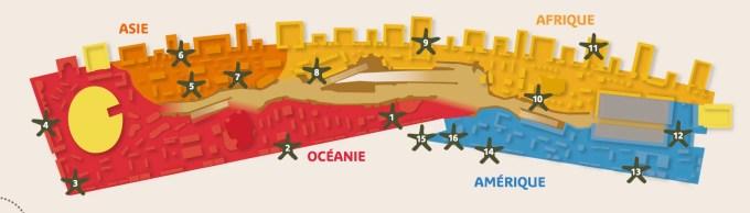 Plan du Musée du Quai Branly