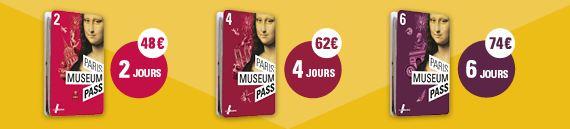 Paris museum Pass - tarifs
