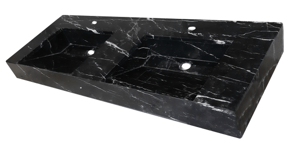 Encimera de mármol modelo EN140 en color negro marquina