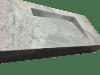 Encimera de mármol modelo EN140 en color blanco carrara
