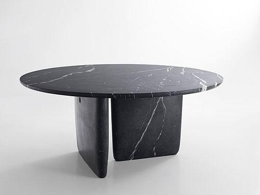 table en marbre noir marquina