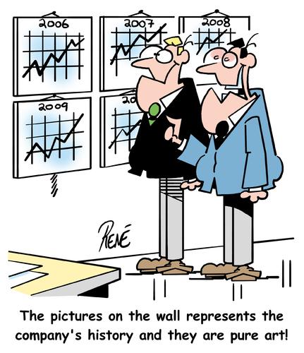 Art and business, cartoon