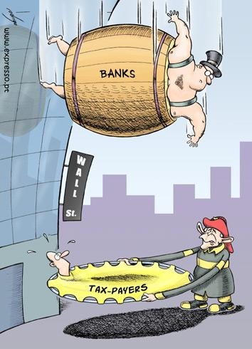 United States financial crisis, cartoon