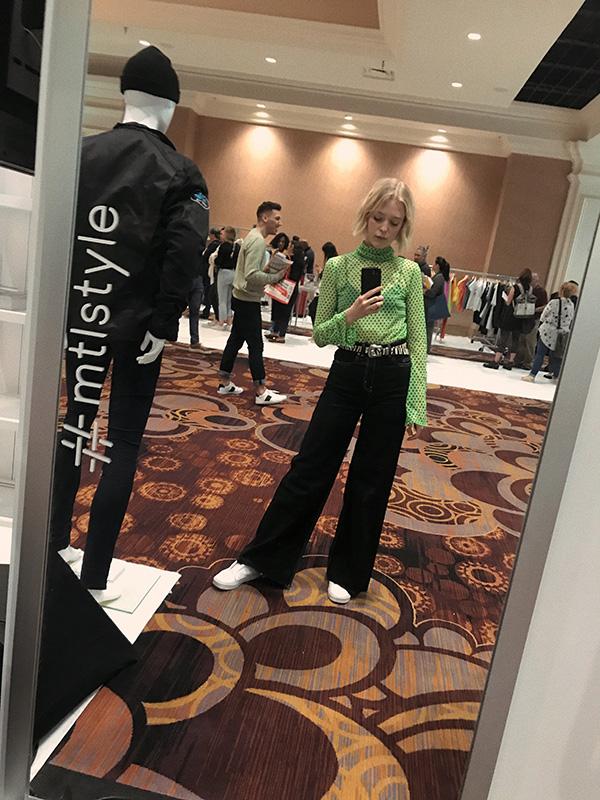Joëlle Paquette au salon MAGIC à Las Vegas dans le cadre la mission #mtlstyle.