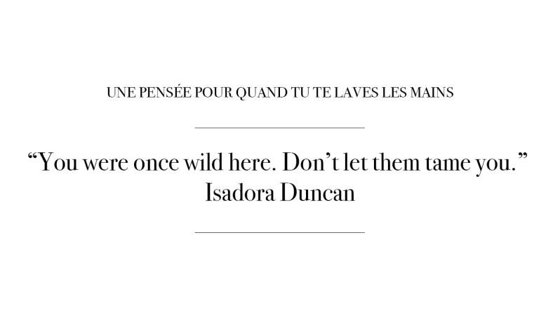 Citation par Isadora Duncan