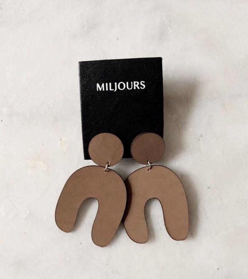 Boucles d'oreilles Miljours fabriquées au Québec