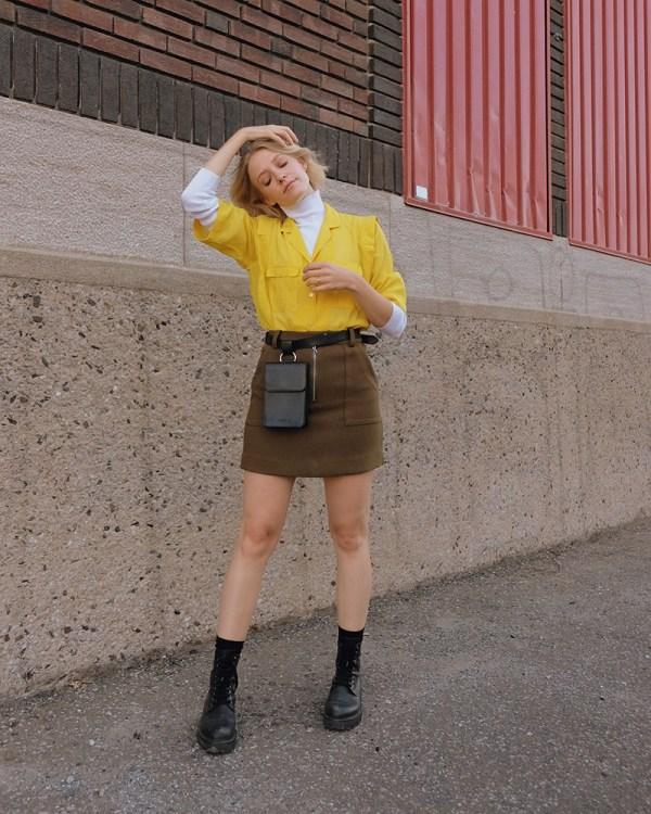 Sac de taille Pitti par la compagnie québécoise de sacs à main éthiques en cuir Wearshop