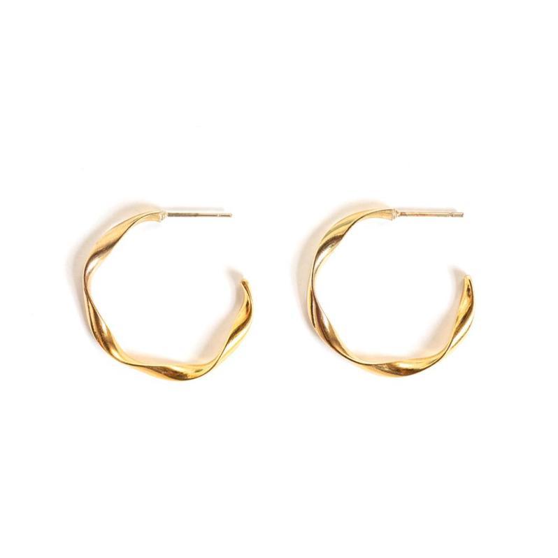 Boucles d'oreilles plaquées or de WellDunn