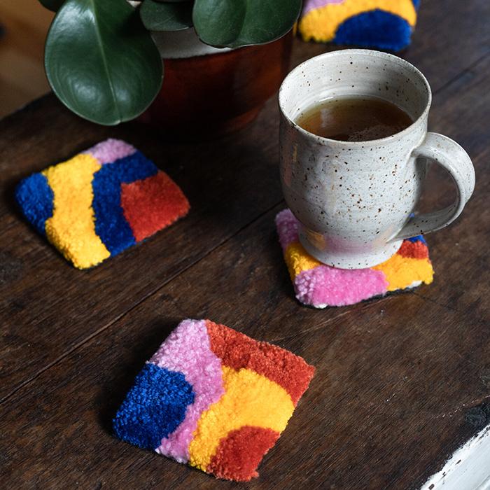 Sous-verre en laine par Little Brummie