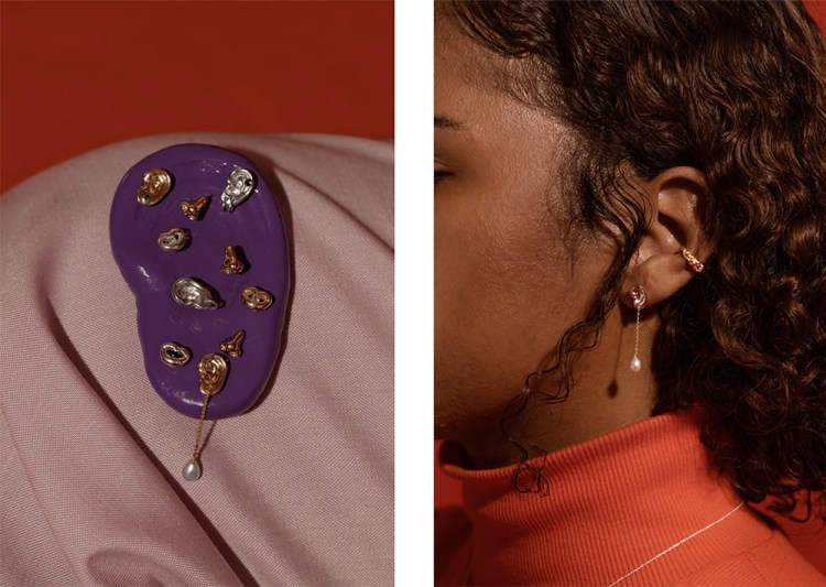 Collection Curio de la marque montréalaise de bijoux Captve.