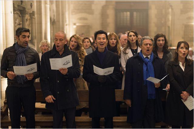 La famille réunie à l'église