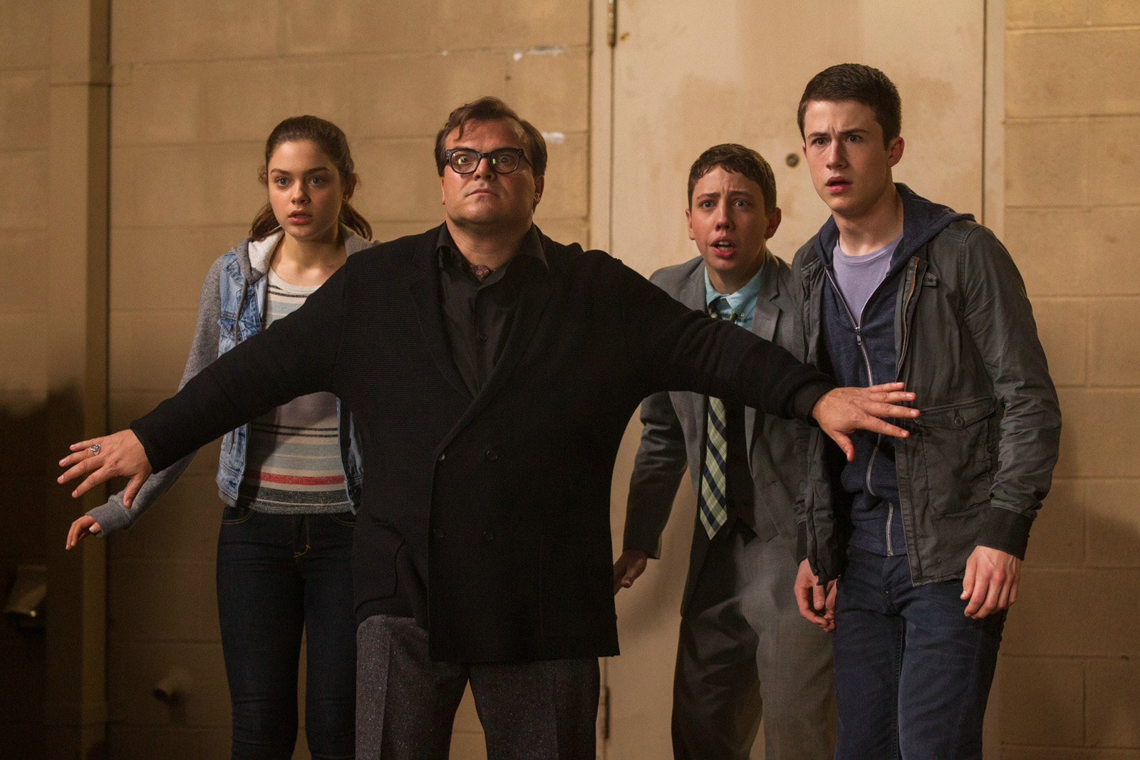 Chair de Poule - Le film : Photo Dylan Minnette, Jack Black, Odeya Rush, Ryan Lee