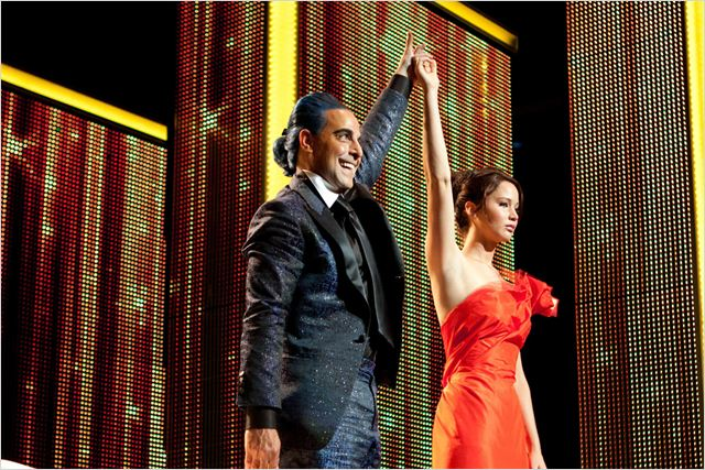 Hunger Games : Photo Gary Ross, Jennifer Lawrence, Stanley Tucci