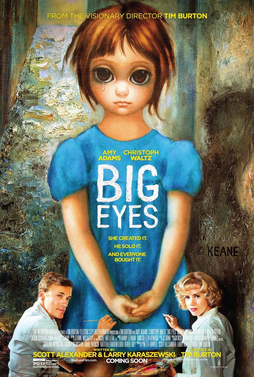 Big Eyes : découvrez l'affiche du prochain Tim Burton ...