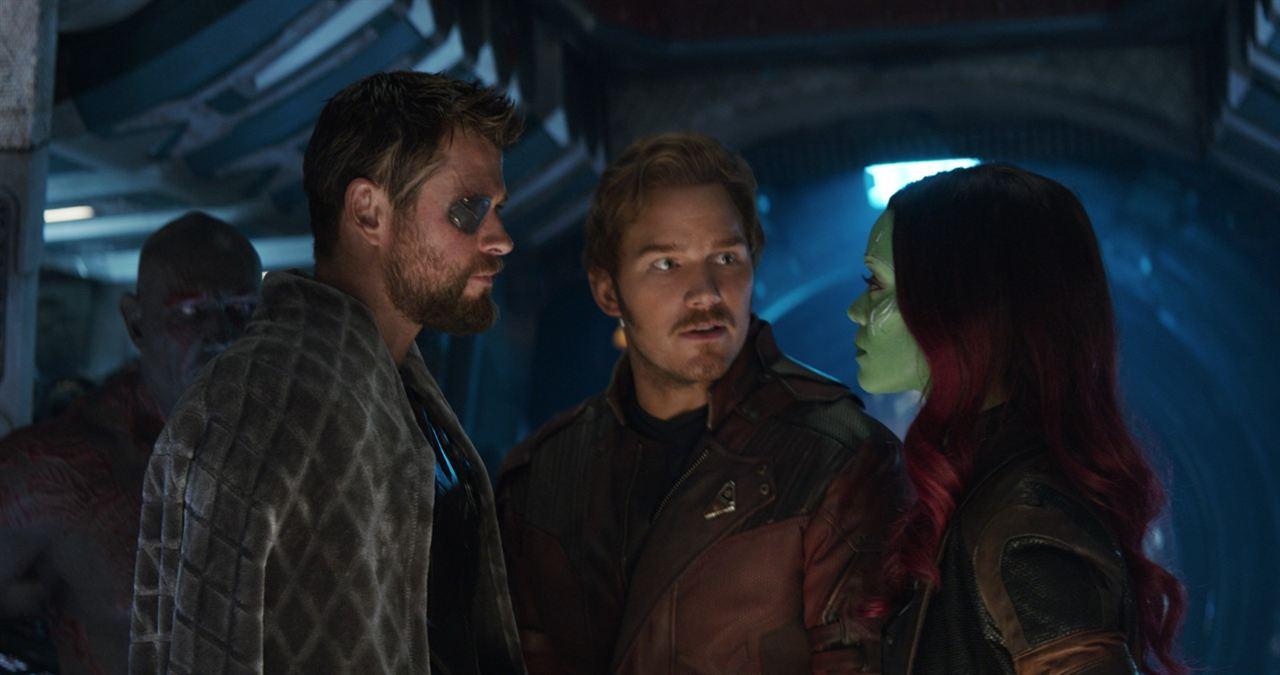 Avengers: Infinity War : Photo Chris Hemsworth, Chris Pratt, Zoe Saldana