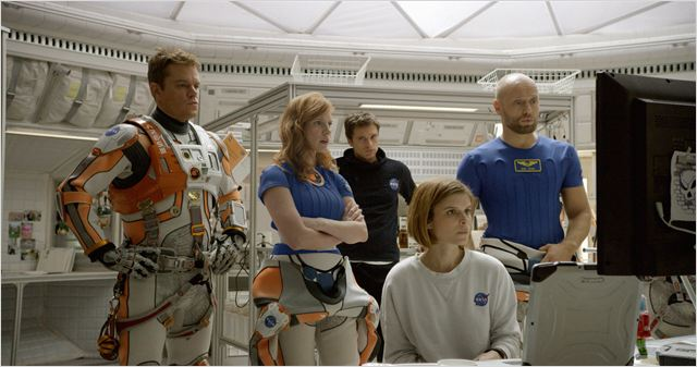 Seul sur Mars : Photo Aksel Hennie, Jessica Chastain, Kate Mara, Matt Damon, Sebastian Stan