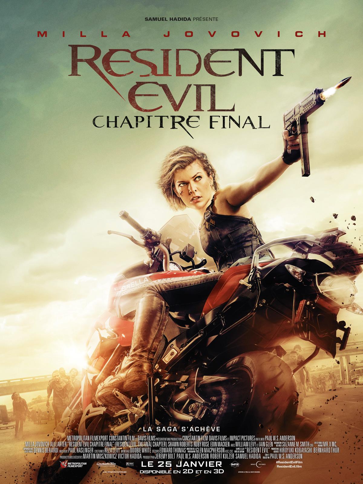 Résultats de recherche d'images pour «Resident Evil : Chapitre Final allocine»