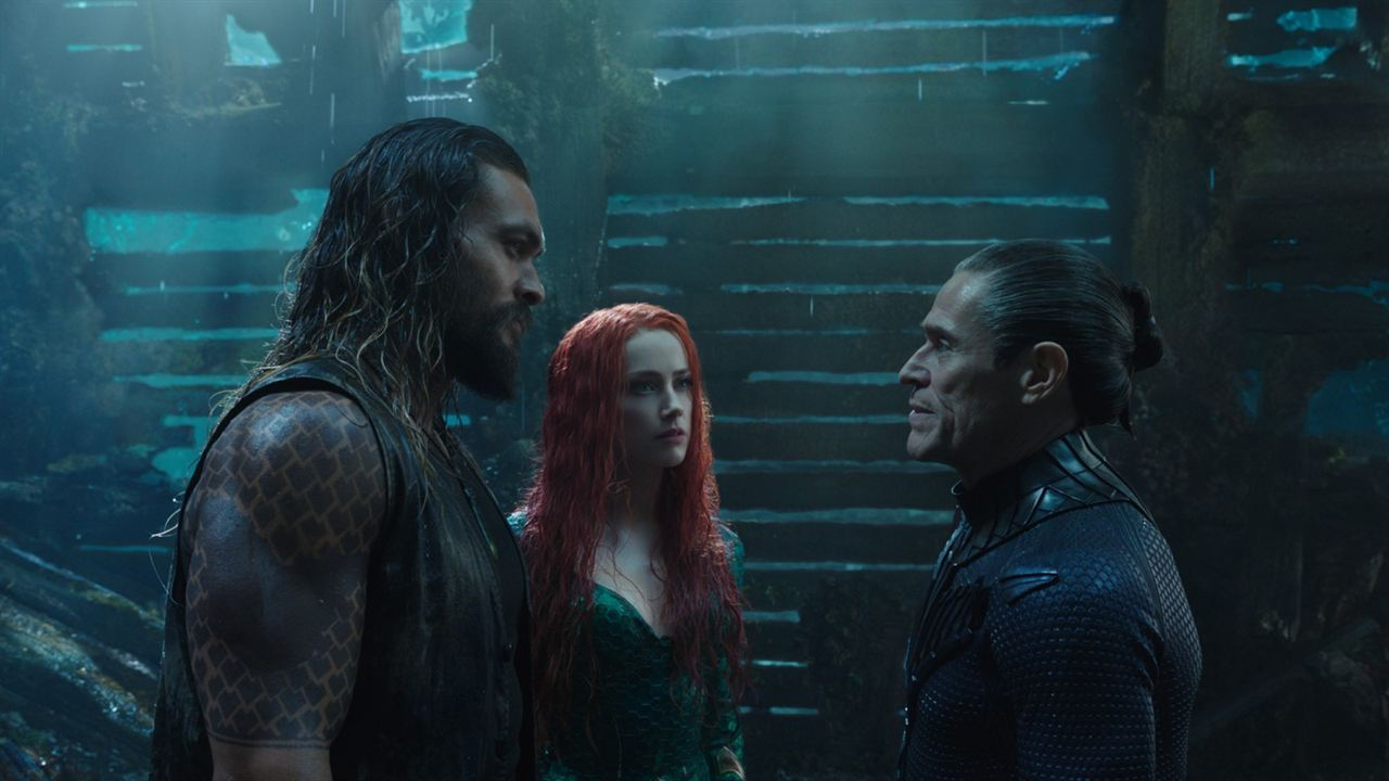 Aquaman : Photo Amber Heard, Jason Momoa, Willem Dafoe