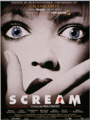 Scream : Affiche Drew Barrymore, Wes Craven