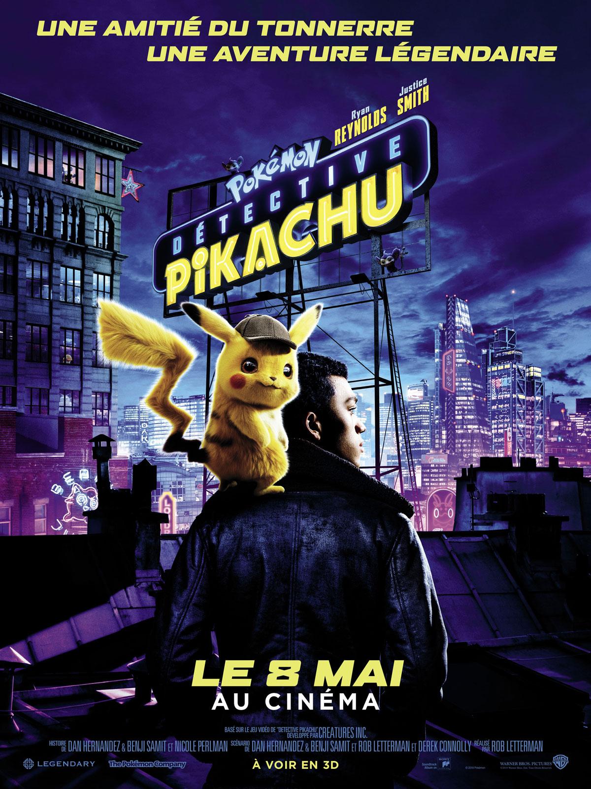 """Résultat de recherche d'images pour """"pokemon detective pikachu affiche"""""""