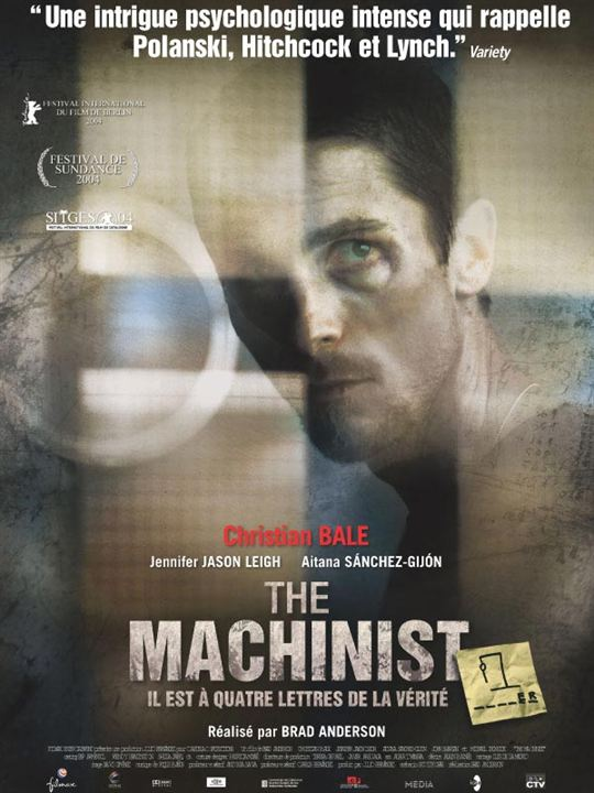 The Machinist : Affiche Brad Anderson, Christian Bale
