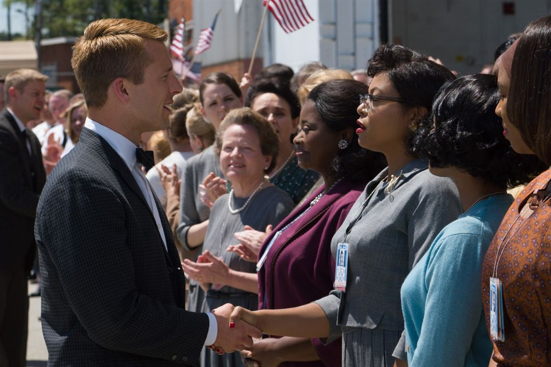 Les Figures de l'ombre : Photo Glen Powell, Octavia Spencer, Taraji P. Henson
