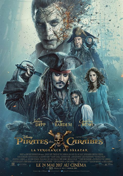 Pirates des Caraïbes : la Vengeance de Salazar : Affiche