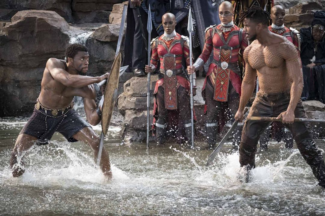 Black Panther : Photo Chadwick Boseman, Michael B. Jordan