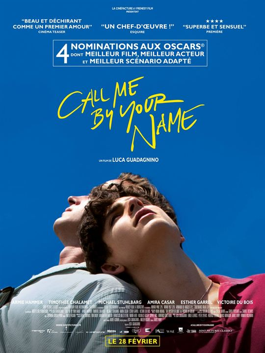 Call Me By Your Name : Affiche