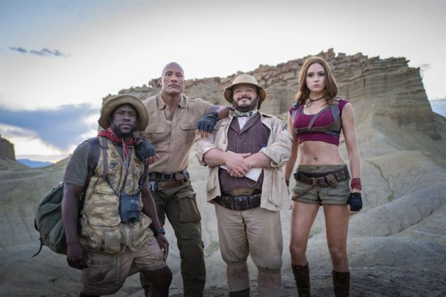Jumanji: next level : Photo Dwayne Johnson, Jack Black, Karen Gillan, Kevin Hart