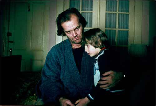 Shining : Photo Danny Lloyd, Jack Nicholson, Stanley Kubrick