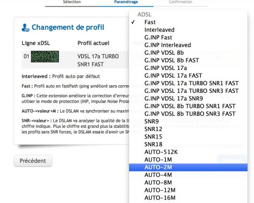 OVH Profils ADSL