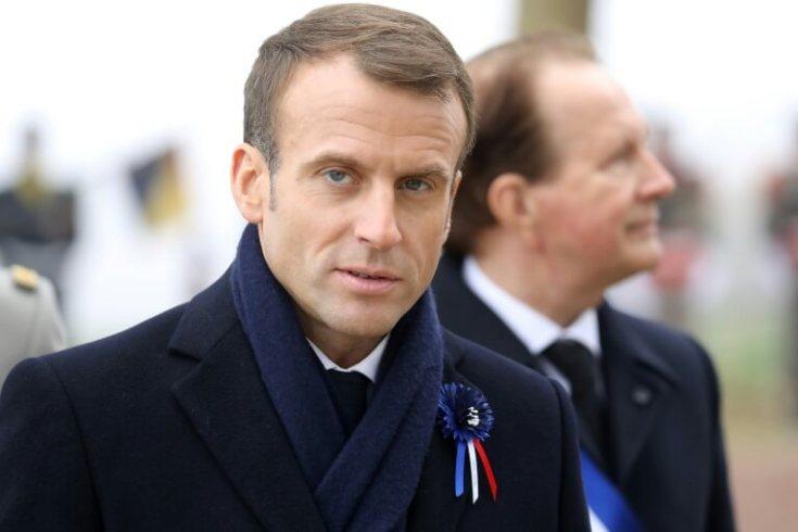Emmanuel Macron et le maire de Morhange Jacques Idoux
