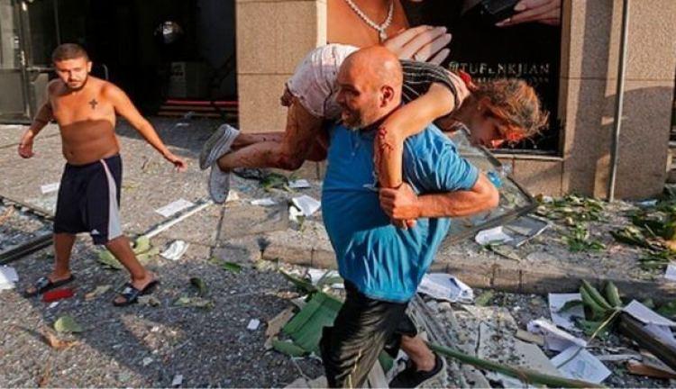 Des victimes de l'explosion