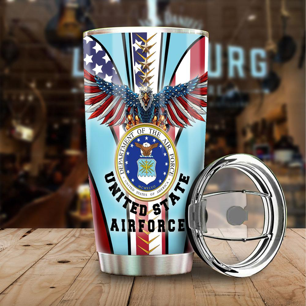 89fashion Usaf Tumbler Cup United States Air Force Stainless Size 20 Oz Drinkwater & Tumbler