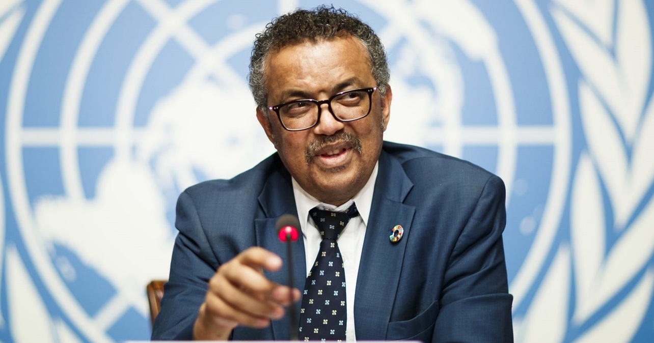 1 Tedros Adhanom Ghebreyesus, director general of the World Health Organization (WHO), attends a press conference at the European headquarters of the United Nations in Geneva, Switzerland, 18 May 2018. The WHO Director-General answered questions ahead of the World Health Assembly and following the meeting of an International Health Regulations Emergency Committee on Ebola in the Democratic Republic of the Congo. EPA-EFE/VALENTIN FLAURAUD