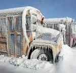 frozen bus