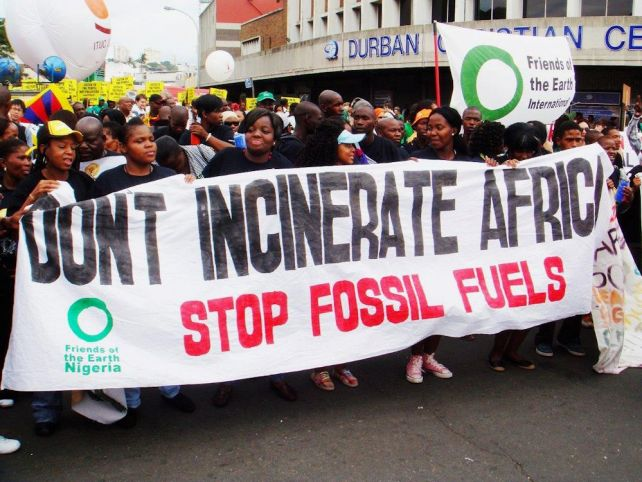 Don't Incinerate Africa - Stop Fossil Fuels